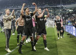 Ajax progressed to the semi-finals with a 2-1 success at Juventus (Luca Bruno/AP)