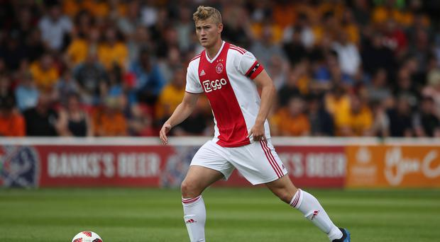 Matthijs De Ligt became the youngest player to play 100 games for Ajax (Nick Potts/PA)