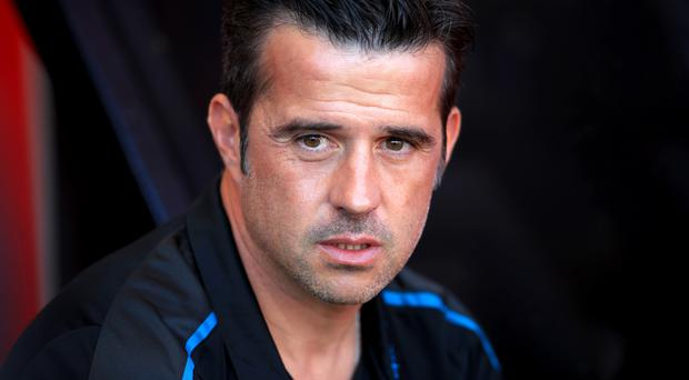 Everton manager Marco Silva has had to question his players' strength of personality (Adam Davy/PA)