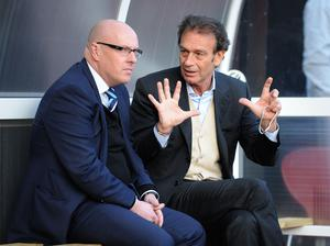 Manager Brian McDermott, left, with owner Massimo Cellino (Tony Marshall/PA)