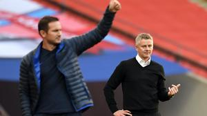 Ole Gunnar Solskjaer (right) and Frank Lampard are both battling for Champions League qualification (Andy Rain/NCM Pool/PA)