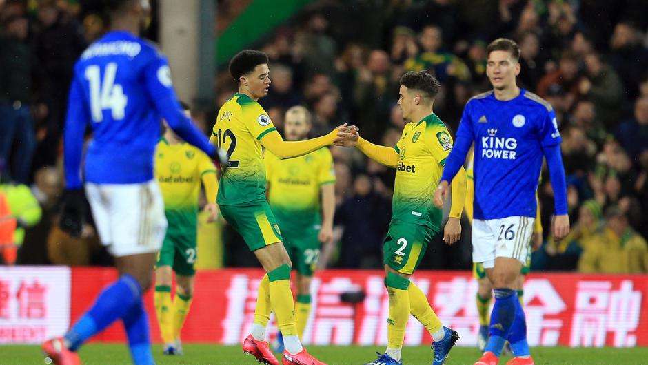 Sweet moment: Jamal Lewis celebrates his winner against Leicester City