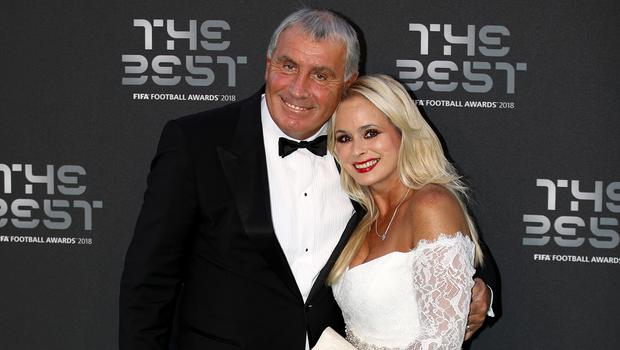 Peter Shilton pictured with his wife Steph in 2018 (Tim Goode/PA)