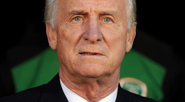Giovanni Trapattoni is pleased with the attitude and balance of his Ireland side