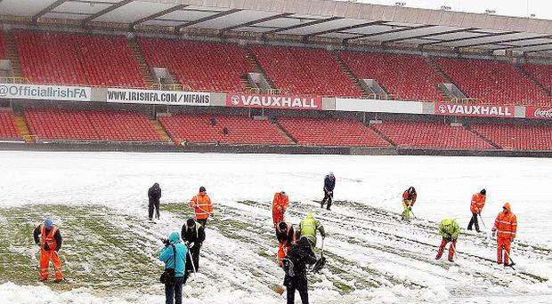 Windsor Park has been hit by severe snowfall