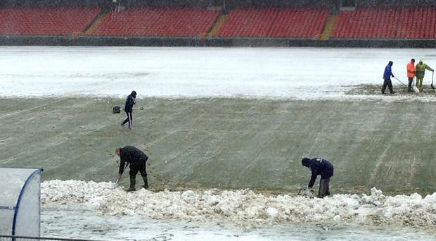 Northern Ireland's rearranged match against Russia was called off again after heavy snow