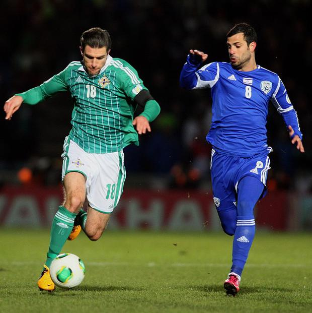 Eden Ben Basat, right, scored late on as Israel beat Northern Ireland