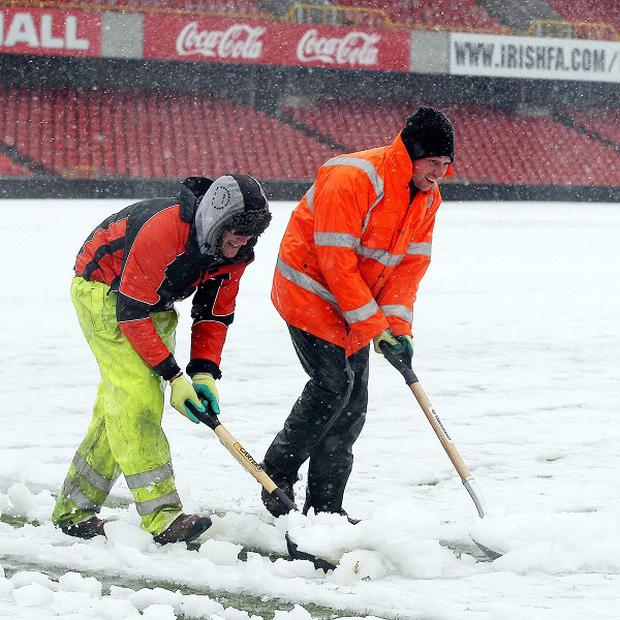 Northern Ireland's home game against Russia fell foul of the weather last month
