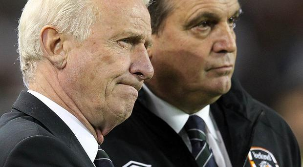 Marco Tardelli, right, wants the players to stay focused on the Faroe Islands