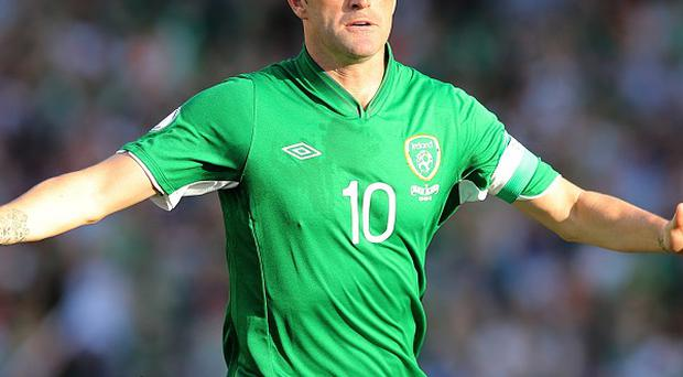Robbie Keane netted a hat-trick against the Faroe Islands