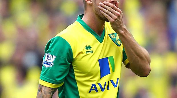 Anthony Pilkington is struggling with a knee injury sustained during Norwich's pre-season