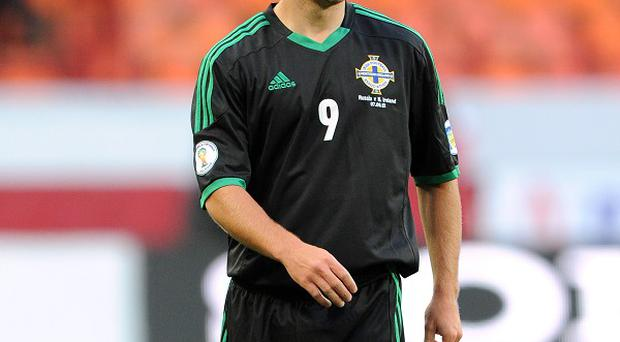 Jamie Ward made his Northern Ireland debut against the Faroe Islands in August 2011