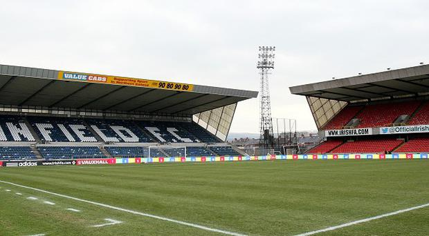 Sectarian chanting occurred at Windsor Park when Linfield played Cliftonville
