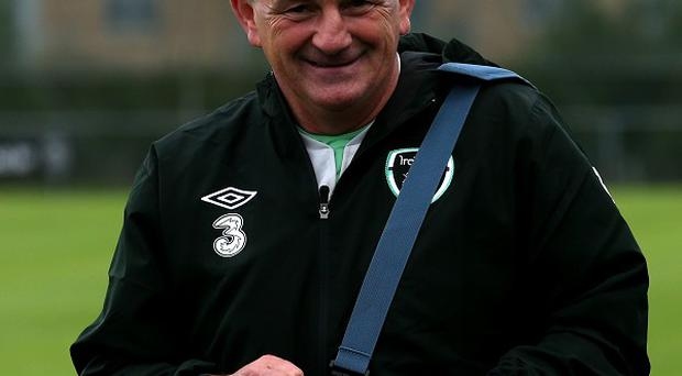 Harry McCue is standing in for Noel King, pictured, as Ireland Under-21 manager