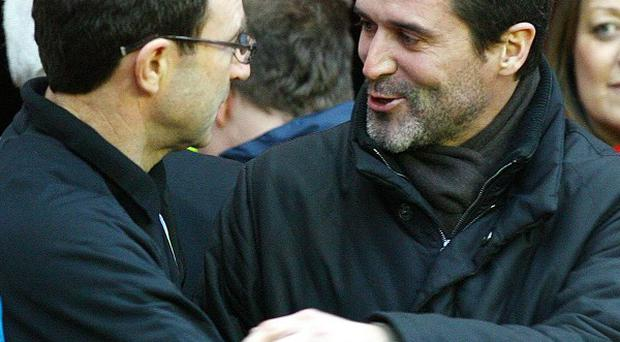Martin O'Neill, left, and Roy Keane, right, are in line for Ireland roles
