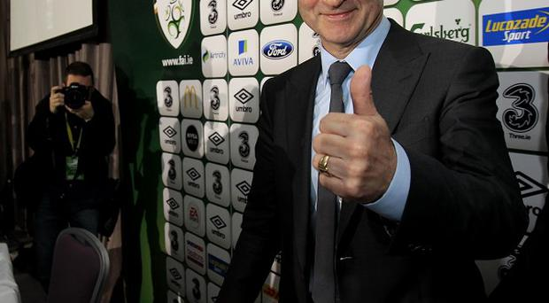 Martin O'Neill's first game in charge of Ireland is against Latvia