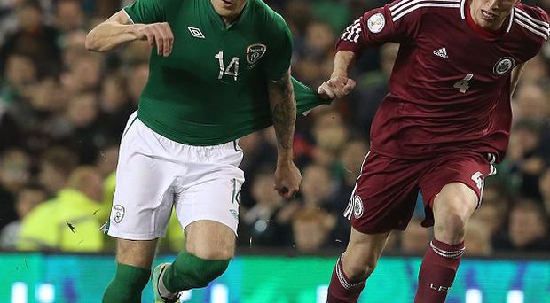 Ireland's Anthony Stokes, left, admits the qualifying group is too close too call