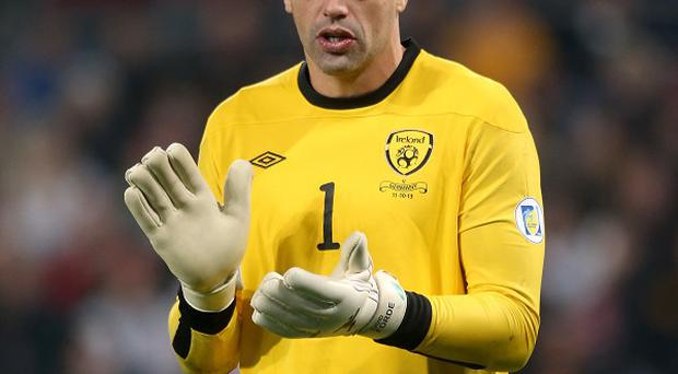 Ireland goalkeeper David Forde is hoping to complete a remarkable double over Italy