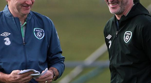 Martin O'Neill, would be disappointed to lose assistant Roy Keane, right