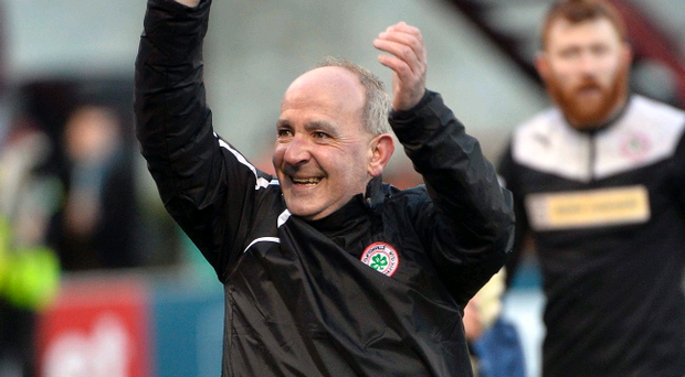 Reds at the ready: Tommy Breslin will lead Cliftonville into battle with Debrecen of Hungary in the Champions League