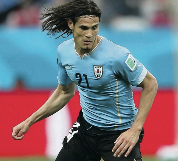 Wanted man: Edinson Cavani