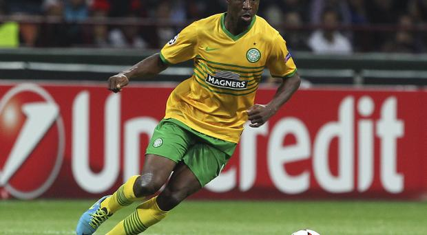Flying in: Efe Ambrose will fly into Slovenia today and is almost certain to play against Maribor tonight