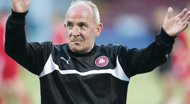 Tommy Breslin will be looking for a win over Glentoran with Cliftonville