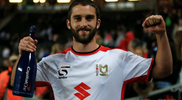 Will Grigg believes he can make waves for Northern Ireland after scoring twice in MK Dons' shock win over Manchester United