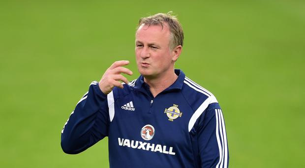 Michael O'Neill, pictured, was all praise for Northern Ireland's match-winner Kyle Lafferty