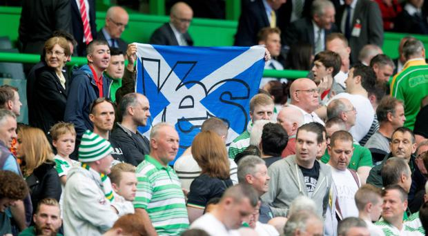 Don't blame the referendum: Strangely, views seem to be divided on the issue between Celtic and Rangers fans