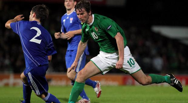 Paddy McCourt during his Northern Ireland playing days
