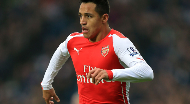 Top Gunner: Alexis Sanchez has been in superb form for Arsenal, who will find it tough at Stoke today