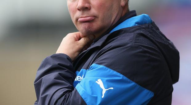 At the helm: Ally McCoist will remain in place for Saturday