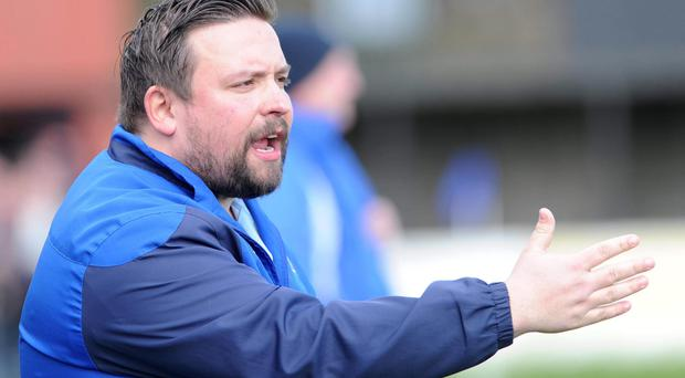 Challenge: Ards Rangers boss Lee Forsythe expects a test