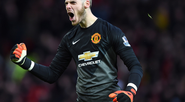 Wanted man: but Manchester United are confident they can hold onto David de Gea
