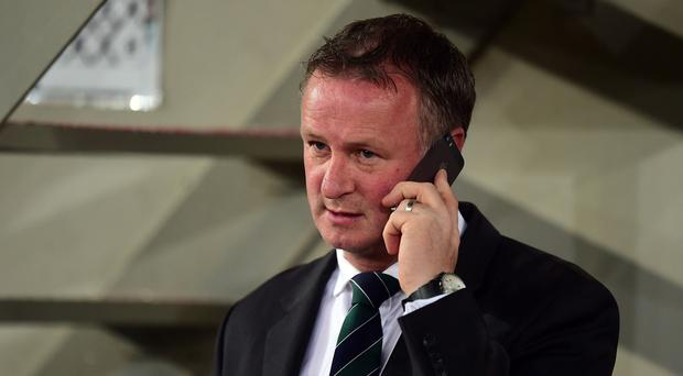 Northern Ireland boss Michael O'Neill, pictured, has appointed Jimmy Nicholl as his assistant
