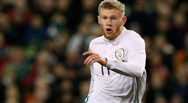 James McClean is an injury doubt for the Republic of Ireland after limping out of training
