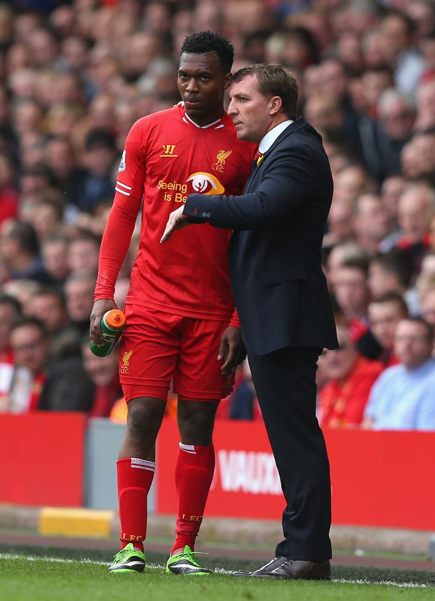 Over and out: Brendan Rodgers with Daniel Sturridge