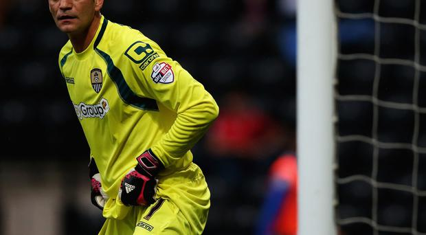 Number one: Roy Carroll is determined to help Notts County back into League One next season