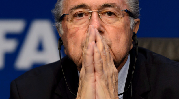 Public enemy: Sepp Blatter is still in charge of Fifa but Europe are plotting against him