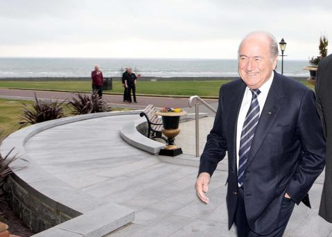 Walking away: Sepp Blatter