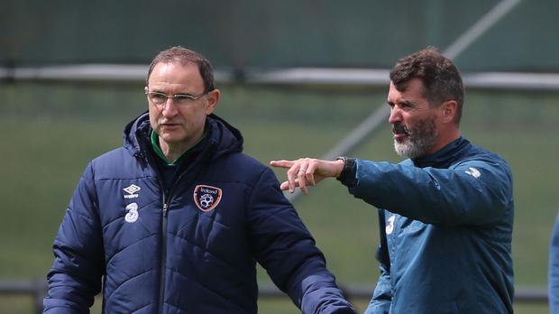 Republic of Ireland manager Martin O'Neill, left, and assistant Roy Keane were not seriously hurt in an accident on the M50