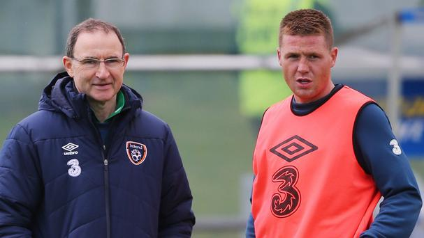 Republic of Ireland manager Martin O'Neill, left, is backing James McCarthy to beat the boo-boys