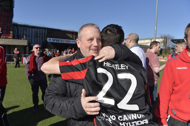 Planning ahead: Crusaders chairman Stephen Bell says the club is now resigned to staying at Seaview