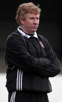 In charge: Harry McConkey leads the NI Regions Cup side