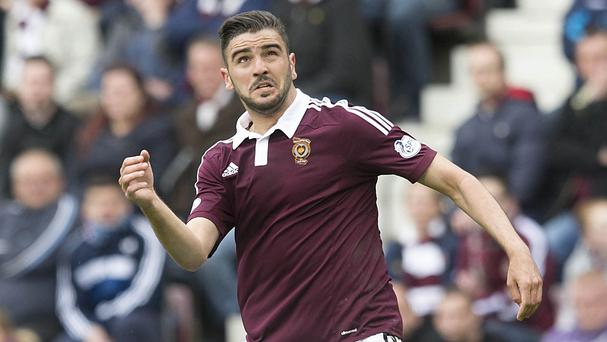 Alim Ozturk had an aborted comeback for Hearts