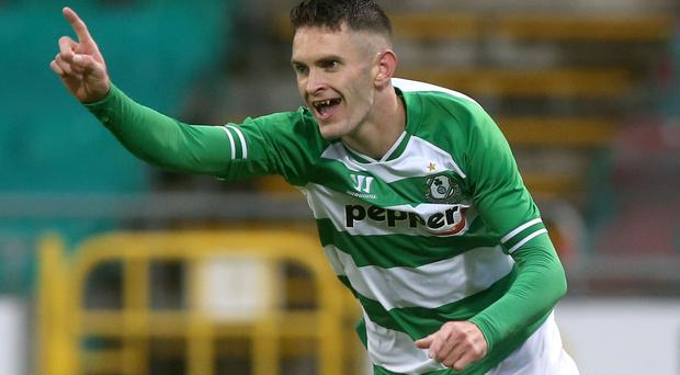 Kieran Waters scored a brace for Shamrock
