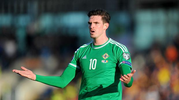 Kyle Lafferty has been selected for Northern Ireland's matches against the Faroe Islands and Hungary next month