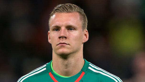 Bayer Leverkusen goalkeeper Bernd Leno is in the Germany squad