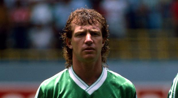 Jimmy Nicholl lined up for Northern Ireland at the 1986 World Cup